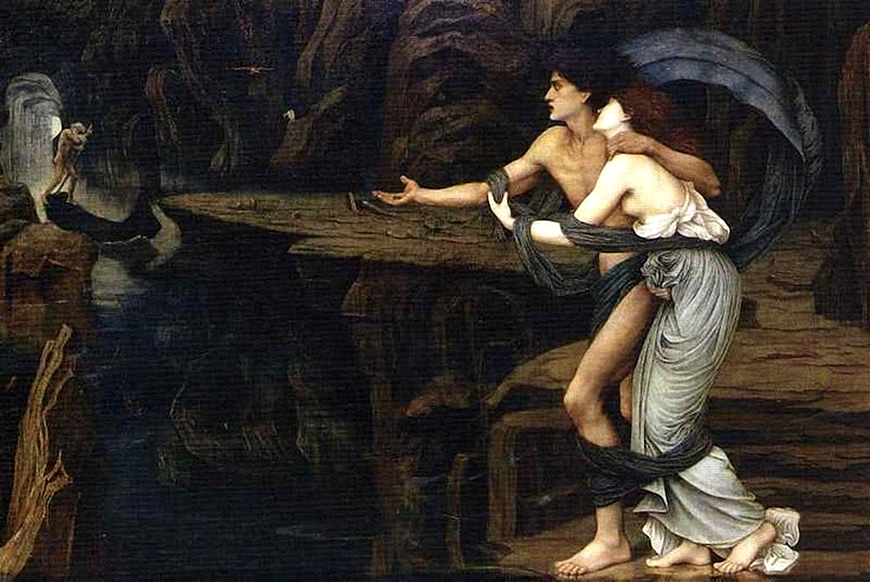 Orpheus and Eurydice on the Banks of the Styx, John Roddam Spencer Stanhope, 1878